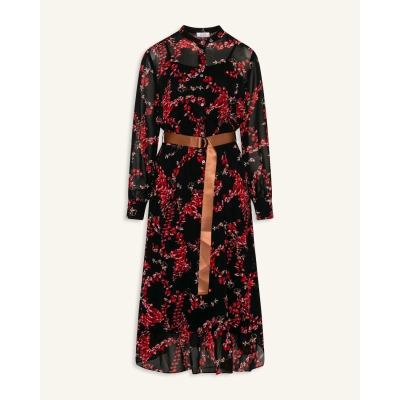 Love & Divine Dress Black/Red Flower