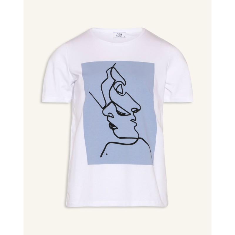 Love & Divine T-shirt White/Blue