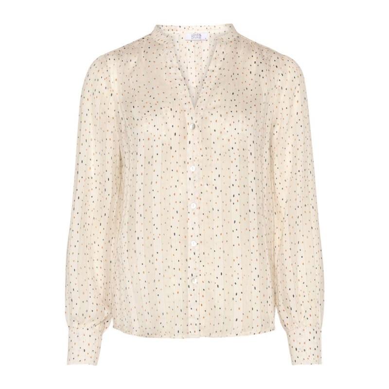 Love & Divine Shirt Cream Dot