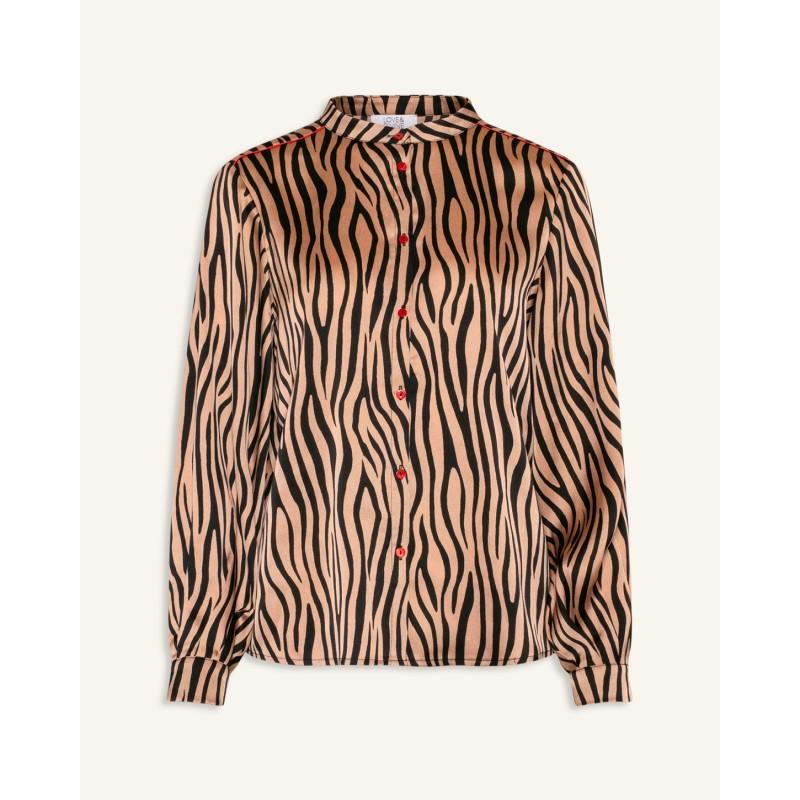 Love & Divine Shirt Zebra Powder