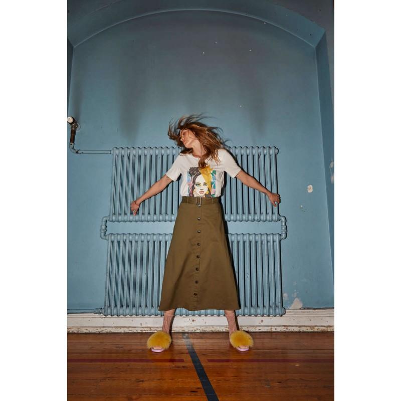 Love & Divine Skirt Khaki