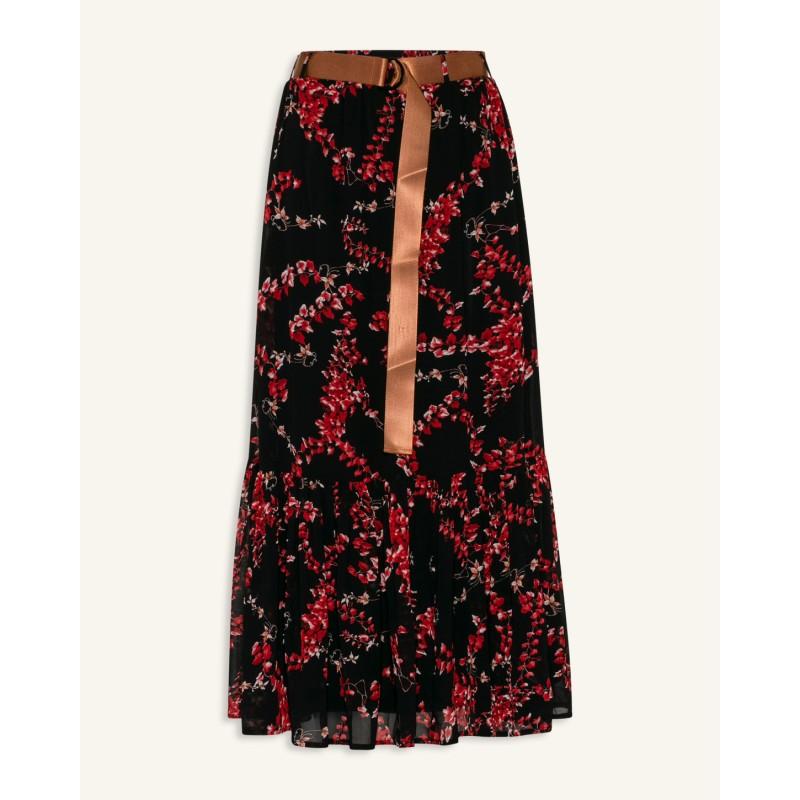 Love & Divine Skirts Black/Red Flower