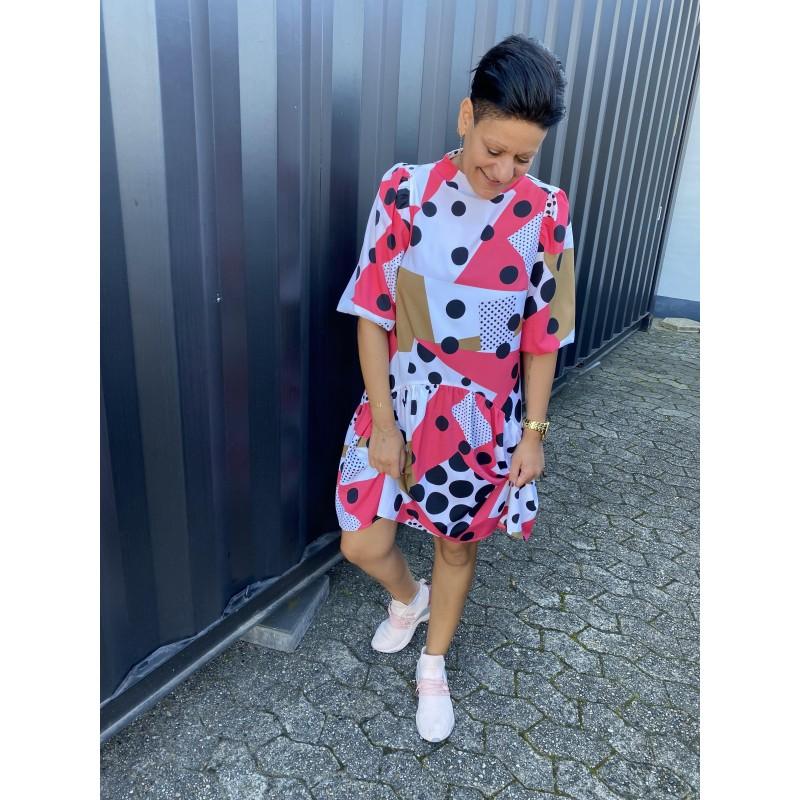 Love & Divine Dress Pink/Graphic Dot