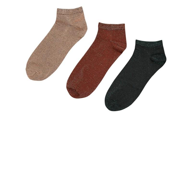 Nümph Bronach 3-Pack Glitter Socks