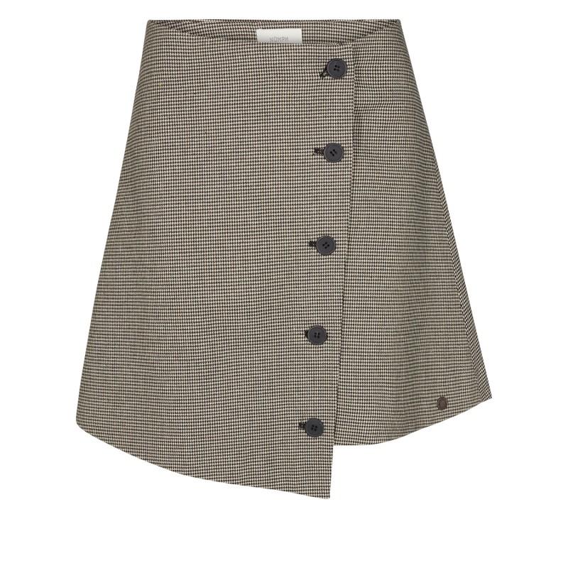 Nümph Dacey Skirt Caviar Check