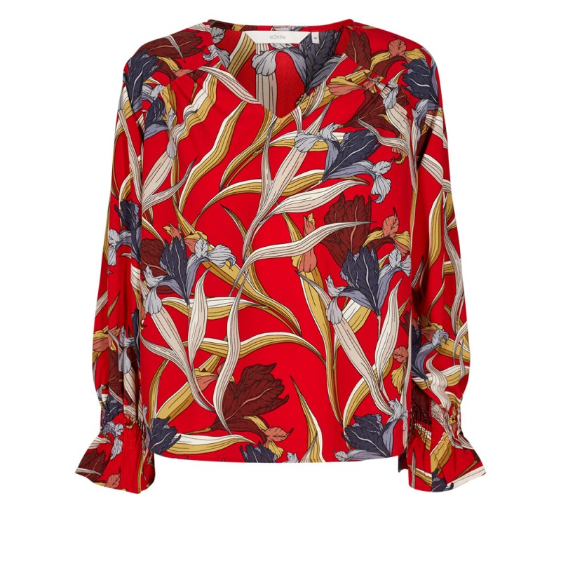 Nümph Fife Blouse Chinese Red