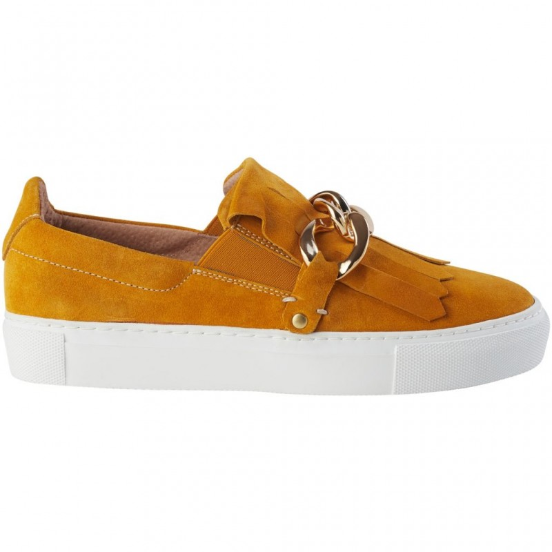Pavement Gry Yellow Suede