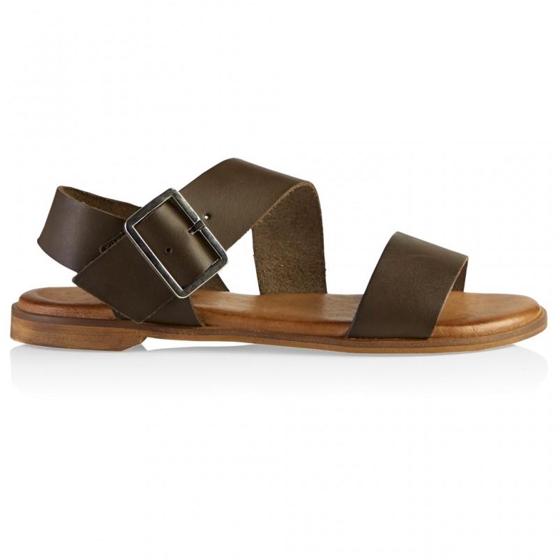 Defeeter Lucia Sandal Leather Khaki