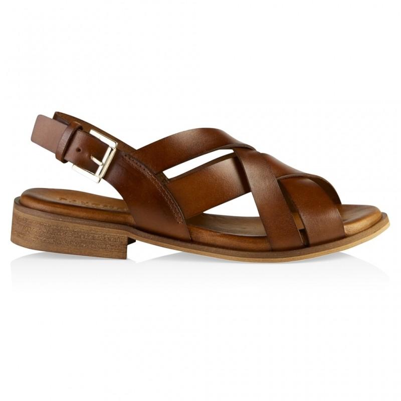 Pavement Scarlett Sandal Leather Tan