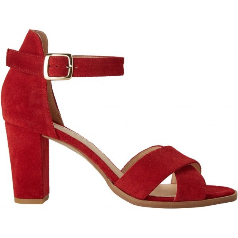 Pavement Silke Cross Red Suede