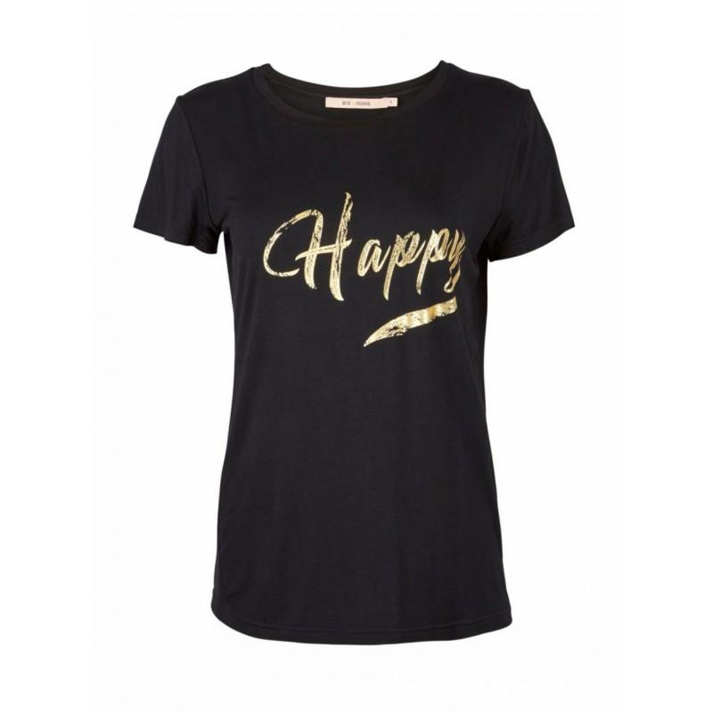RUE de FEMME Happy SS Tee Black