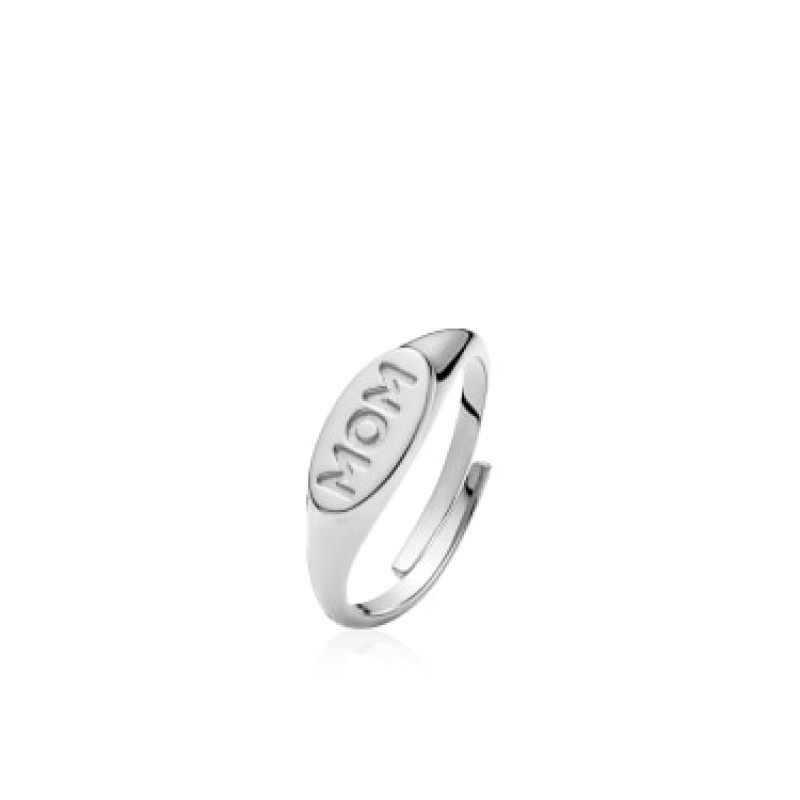 "Sistie Fam ""MOM"" Ring Silver"