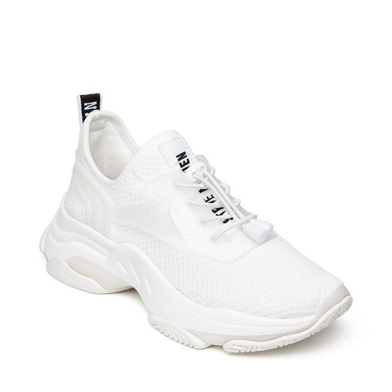 Steve Madden Match Sneaker Fabric White