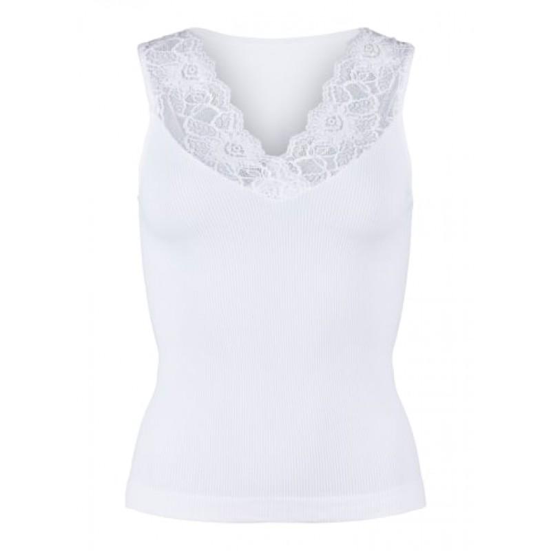 Tim & Simonsen Belen V-lace Top White