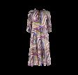 Black Colour Abella Graphic Boho Dress Purple Graphic