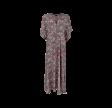 Black Colour Luna Long V-Neck Dress Rose Pansy