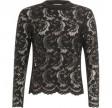 Coster Copenhagen Blouse In Lace W. Rib Details Black