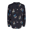 Freequent Adney Blouse Long Sleeves Flow Navy Blazer Mix
