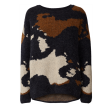 Freequent Bene Pullover Blue Camel