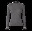 Freequent Claudisse Pullover Furry Dark Grey Melange