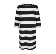 Freequent Dini Dress Black W. Offwhite
