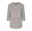 Freequent Merle 3/4 Stripe Off White W. Navy
