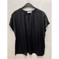 Coster Copenhagen Top With Shortsleeves And Gatherings Black