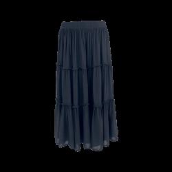 Black Colour Ada Boho Skirt Black