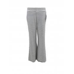 Black Colour Jamie Diy Wideleg Sweat Pant Black Stripe