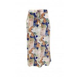 Black Colour Luna Bias Skirt W. Pockets Marble Peach