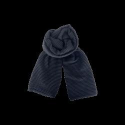 Black Colour Megyn Knit Scarf Black