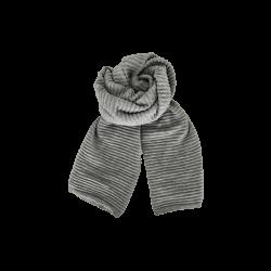 Black Colour Megyn Knit Scarf Grey