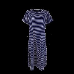 Black Colour Polly Jersey Dress Navy