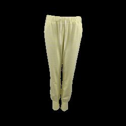 Black Colour Polly Striped Jersey Pants Yellow