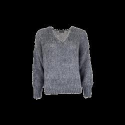 Black Colour Simona Knitted Jumper Grey