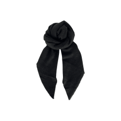 Black Colour Whitney Boucle Scarf Black