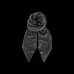 Black Colour Whitney Boucle Scarf Grey