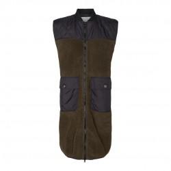 Có Couture Audrey Fur Mix Vest Army