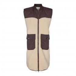 Có Couture Audrey Fur Mix Vest Bone