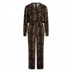 Co'couture Nabia Animal Jumpsuit Mocca