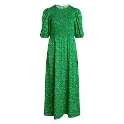 Có Couture Field Flower Smock Dress Green