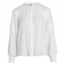 Co'couture Cora Pleat Shirt Off White