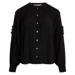 Co'couture Cora Pleat Shirt Black
