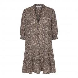 Có Couture Breeze Flower Button Dress Black
