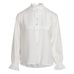 Có Couture Callum Pintuck Frill Shirt White