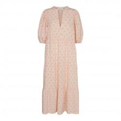 Có Couture Cherry Floor Dress Neon Pink
