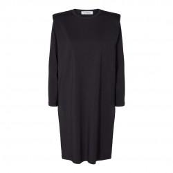 Có Couture Eduarda Long Sleeves Tee Dress Black