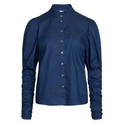 Có Couture Sandy Denim Puff Shirt Denim Blue