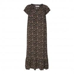 Có Couture Sunrise Ming Flower Dress Black