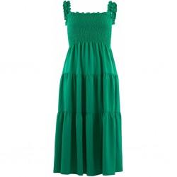 Continue Cph Beth Smock Dress Grass Green